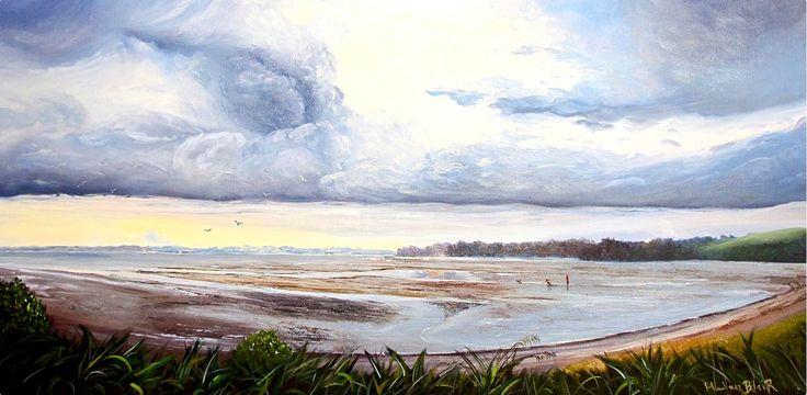 Stormy Skies: Oil on Canvas by #artist Helen Blair #fineart #ianart #artonfire #painting #art http://internationalartnetwork.com/products/StormySkies.html
