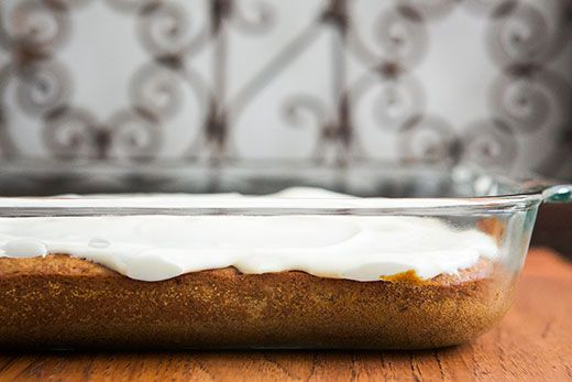 Banana Sheet Cake ~ Easy banana sheet cake with cream cheese frosting, perfect for a large gathering. ~ SimplyRecipes.com