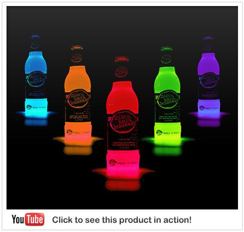 you attach a glow stick to the bottom of the bottle..awesome! Im gunna try this :)
