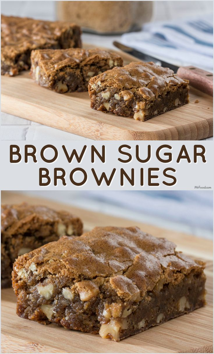 You can't go wrong with these from-scratch Brown Sugar Brownies. They're sweet enough for any occasion.