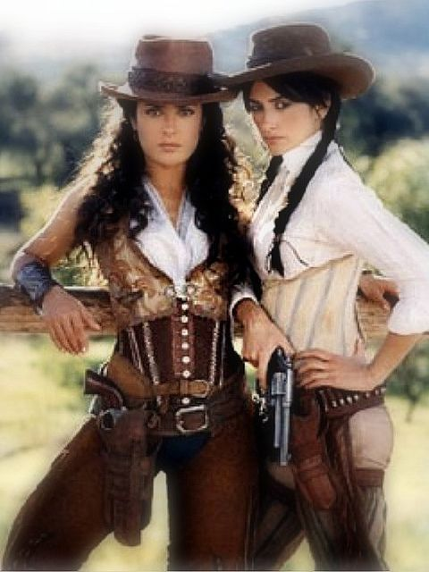 favorite style of corset...western, saloon, romantic and confident!!  Love the movie Bandidas AND all their outfits this movie...great comedy with sexy styl