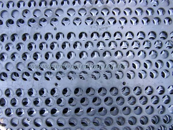 Metal that has a pattern of holes through it is known as perforated metal sheet or mesh.