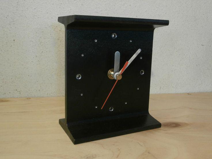 I-Beam Clock / Traverzové hodiny; $20