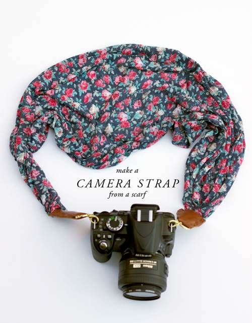 Camera Scarf Strap. Great to make for a gift for your favorite photog fashionista (or keep for you)!