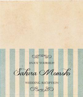 ♡席札♡ の画像|nico◡̈*blog 手作り結婚式