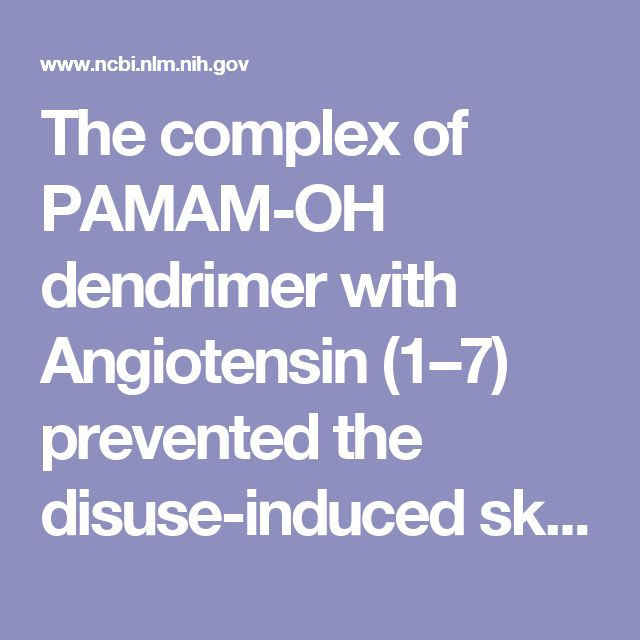 The complex of PAMAM-OH dendrimer with Angiotensin (1–7) prevented the disuse-induced skeletal muscle atrophy in mice