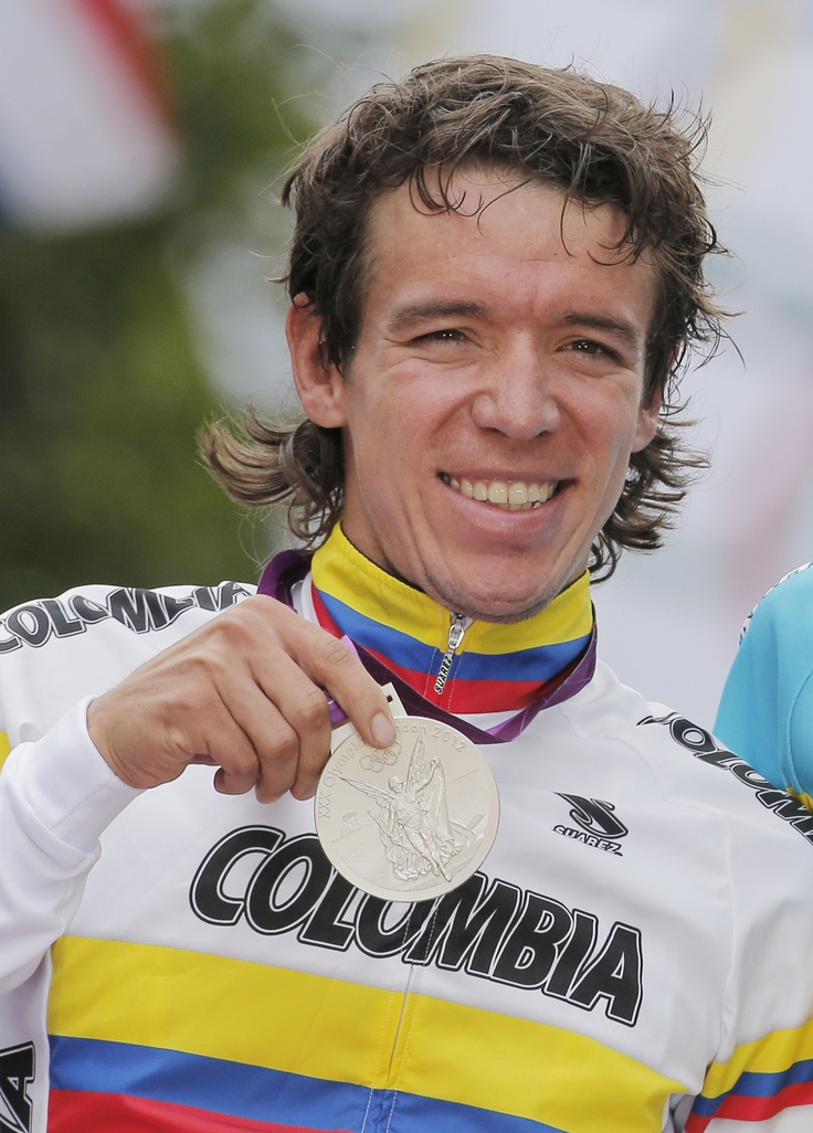 Rigoberto Urán, medalla de plata en ciclismo.