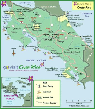 Costa Rica MAP that enlarges and provides info on regions The only health concern is that of DENGUE FEVER, which is a VIRUS transmitted by mosquitoes. Dengue is not especially prevalent and can be prevented with liberal use of insect repellent.