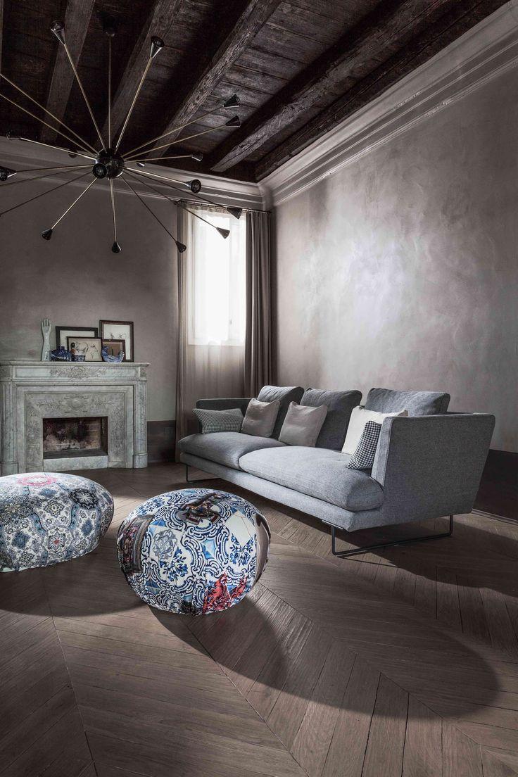 Lars #sofa #design Giuseppe Viganò & Hollywood #pouf Limited Edition 2014 design Gino Carollo by #Bonaldo