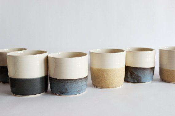 Horizon+cup+set+six+pottery+tumblers+if+you+by+juliapaulpottery,+$150.00 | Pinned by @kelly fischer | sesame + sparrow
