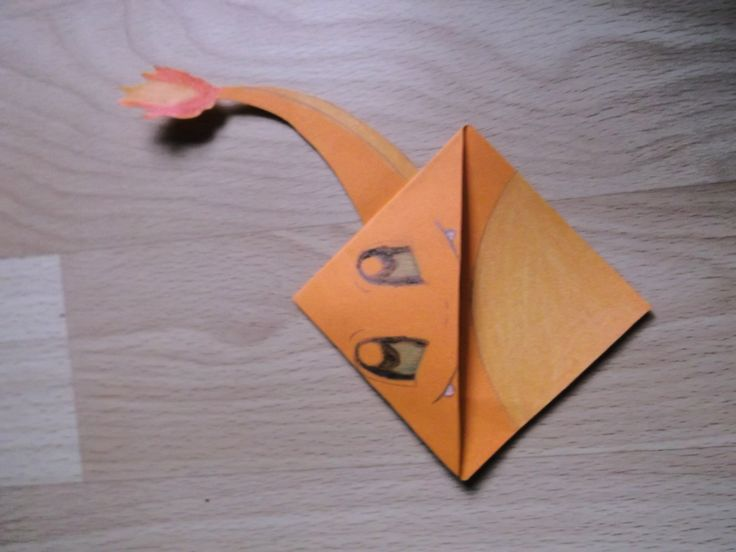 how to make a paper charmander