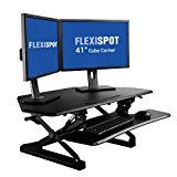 "FlexiSpot M4B Adjustable Standing Desk - 41"" Cubicles Corner Desk Riser with Removable Keyboard Tray (Black) General Description  FlexiSpot's desktop workstation provides an easy way to transition http://thehomeofficesupplies.com/flexispot-m4b-adjustable-standing-desk-41-cubicles-corner-desk-riser-with-removable-keyboard-tray-black/"