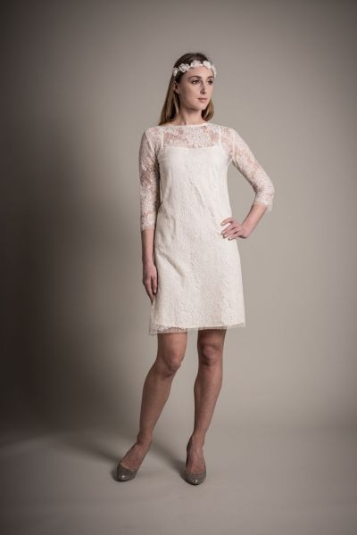 O vestido de noiva certo para vossa cerimónia civil. Modelo Clelia, Au Fil d´Elise.