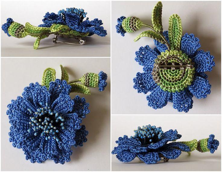 Цветы crochet flowers