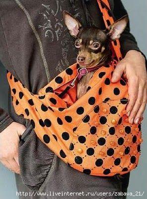 ZONA DE MANUALIDADES: Bolso para llevar a tu perrito