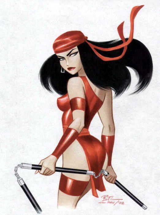 Elektra | Bruce TimmComics Art, Brucetimm, Marvel, Comics Book, Timm Art, Bruce Timm, Super Heroes, Elektra, Superhero