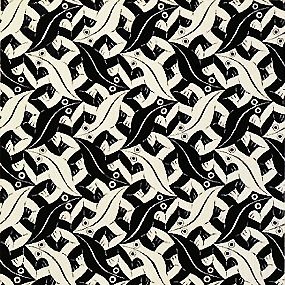 m.c. escher very similar to some of the work of Yann Bertrand