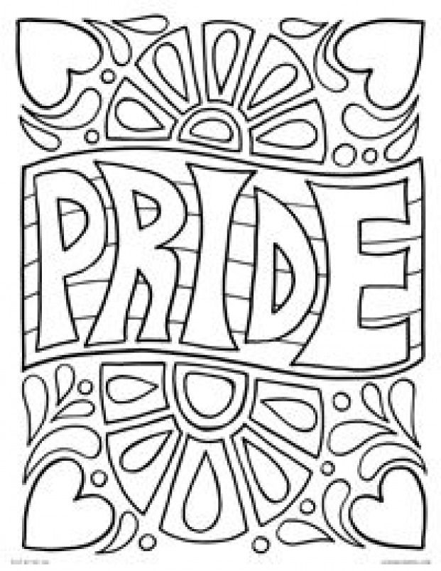 Pride Funky Retro Pride Flag With Hearts Happy Pride Month Free Printable Flag Coloring Pages Coloring Pages For Teenagers Free Printable Coloring Pages