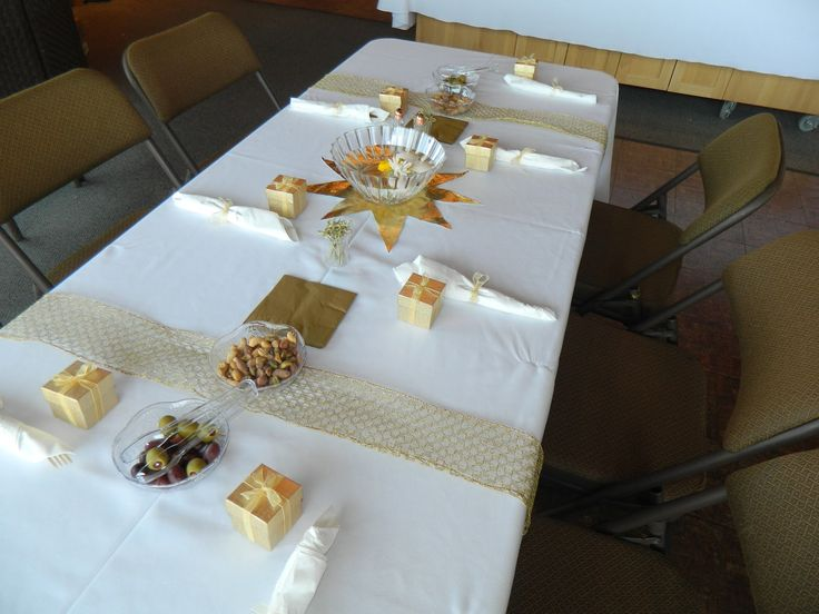 Gold Wedding Anniversary Gift Ideas: 50th Anniversary Table Decorations