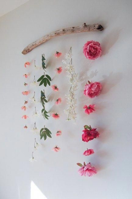 Faux Flower Wall Hanging – The Learner Observer #d…