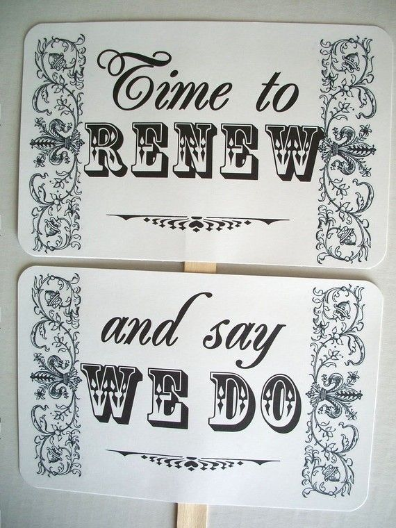 Renew Our Wedding Vows Sign