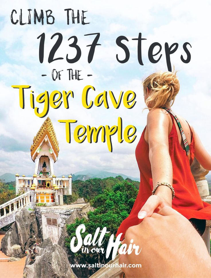 Climb the 1237 steps of the Tiger Cave Temple   #travel #traveling #thailand…