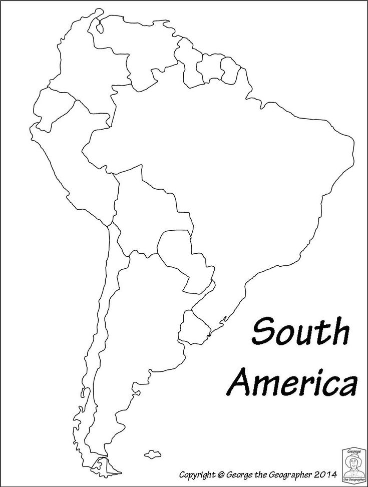 latin america printable blank map south brazil maps of within and