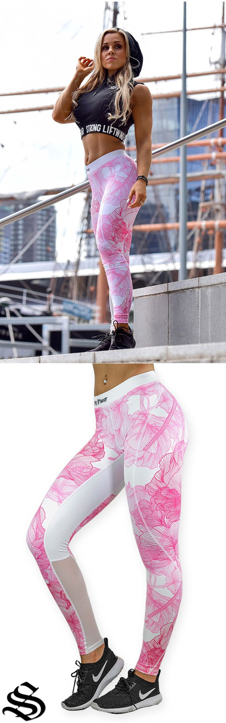Compression Pant- Flower- Pink │gym wear │fitness wear │fitness clothing │fitness │outfits │workout dress │gym outfits │workout outfits │singlets │pants #gymwear #fitnesswear #fitnessclothing #fitness #outfits #workoutdress #gymoutfits #workoutoutfits #singlets #pants