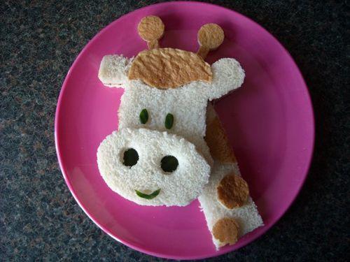 : Fun Food, Idea, Kids Lunches, For Kids, Breakfast Sandwiches, Art Kids, Giraffes Sandwiches, Foodart, Food Art