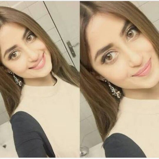 sajal ali perfect selfie i love you my diva look at her