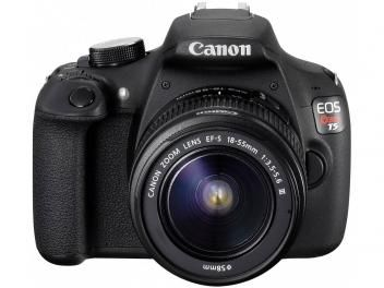 "Câmera Digital SemiProfissional Canon EOS Rebel T5 - 18-55 III 18MP LCD 3"" Zoom Óptico 3x Filma Full HD"