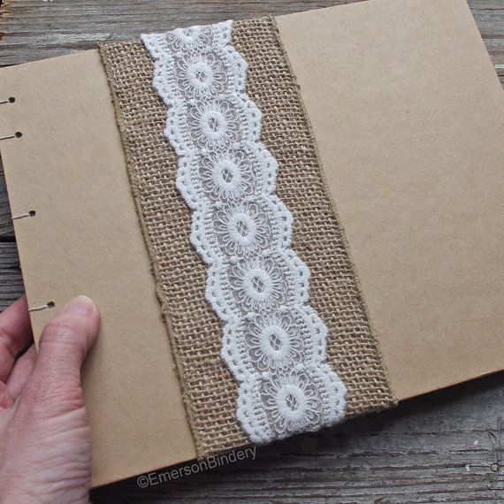 Rustic Wedding Photo Album Or Guest Book Burlap By EmersonBindery A Themed