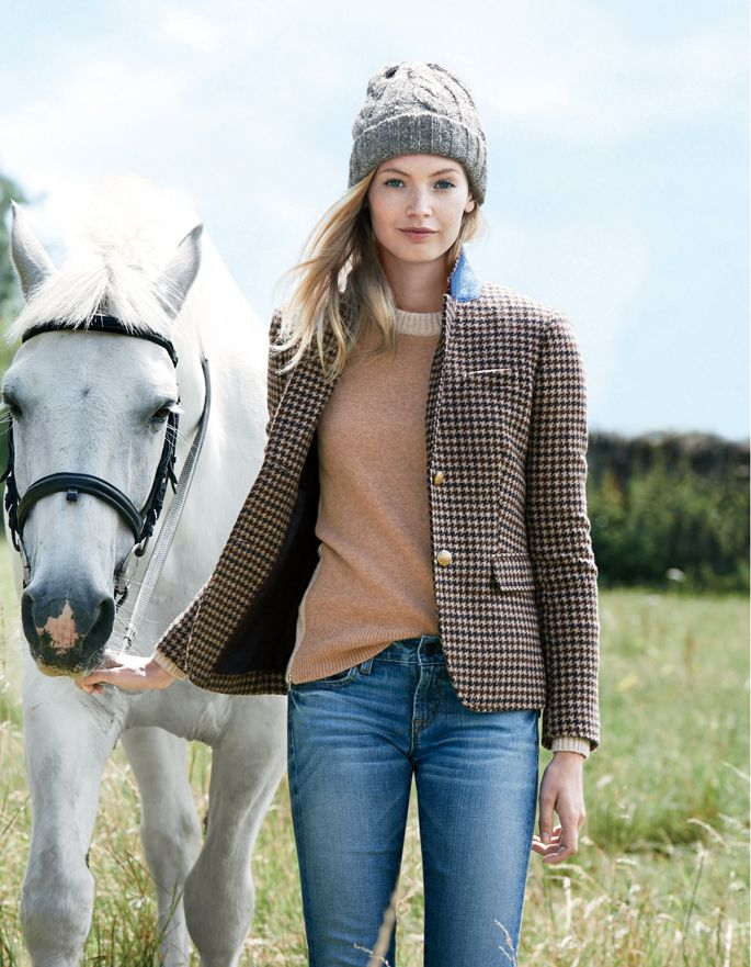 A jacket that looks great with jeans or dress it up with a skirt, or a wool pair of slacks.