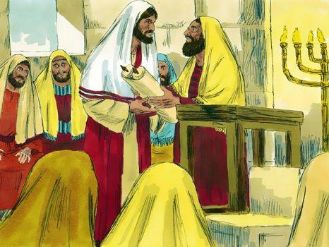 Jezus in Nazareth verworpen, 11 Bijbelplaten voor het digibord, kleuteridee.nl , Bijbelles voor kleuters.