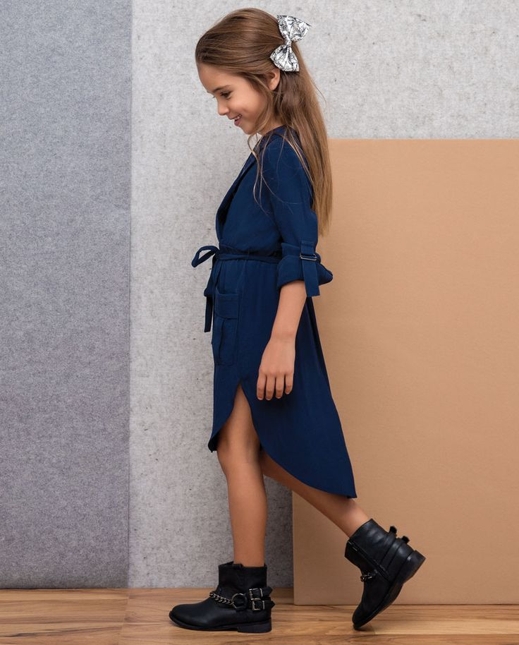 Little Girl's Shirt Dress - Bardot Junior