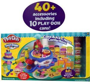 Play-Doh Sweet Shoppe Cake & Ice Cream Confections 40+ Accessoried + 10 Cans of Play Doh by Play-Doh. $39.99. Cake & Ice Cream Confections Bundle. 40+ Accessories including 10 Play-Doh Cans!. Play-Doh Sweet Shoppe Collection. Play-Doh Sweet Shoppe Collection Cake & Ice Cream Confections Bundle 40+ Accessories including 10 Play-Doh Cans!