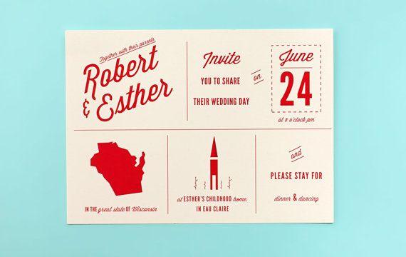 Wedding Invitation - Custom State and Symbol Wedding Invitation set (this is #2 right now, Ma)