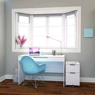 Nexera 400647 Arobas Desk with Mobile Filing Cabinet