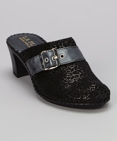 Look what I found on #zulily! Black Billie Leather Mule by La Plume #zulilyfinds