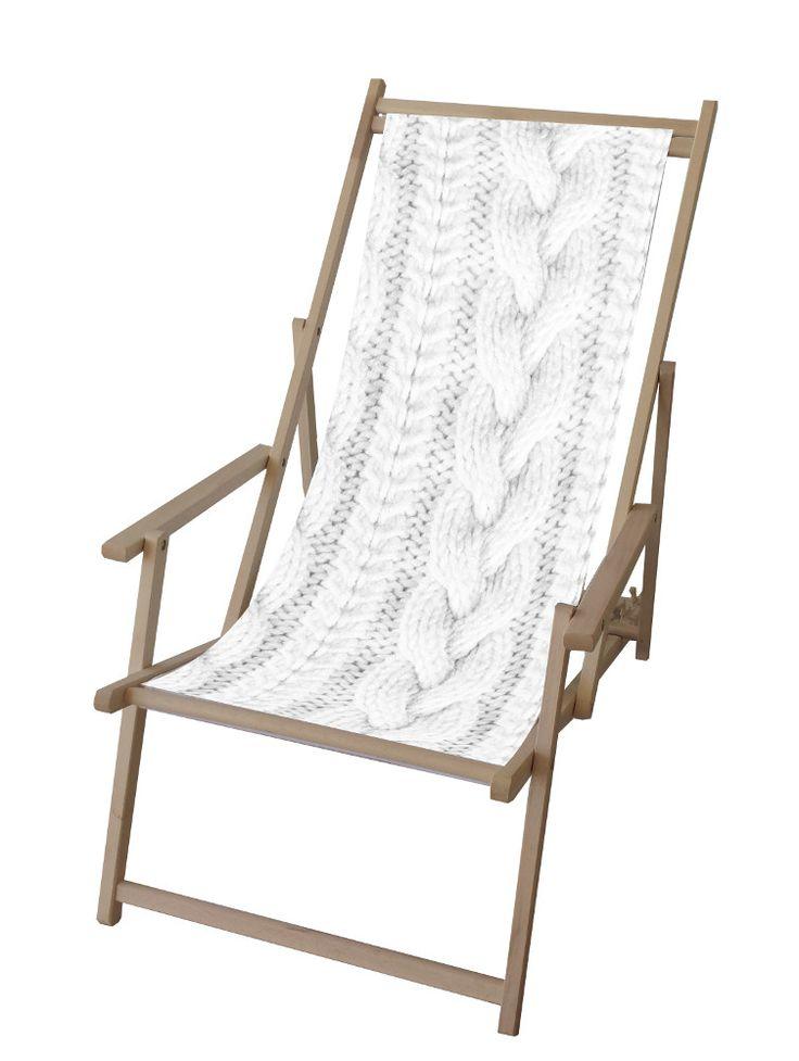 Toile Pull blanc en Polyester pour Chilienne 42,5x113cm sur Jardindeco