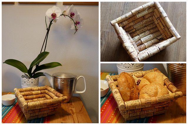 Brotkörbchen aus Flaschenkorken