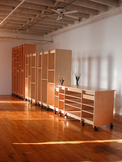 Storage for artist's studio