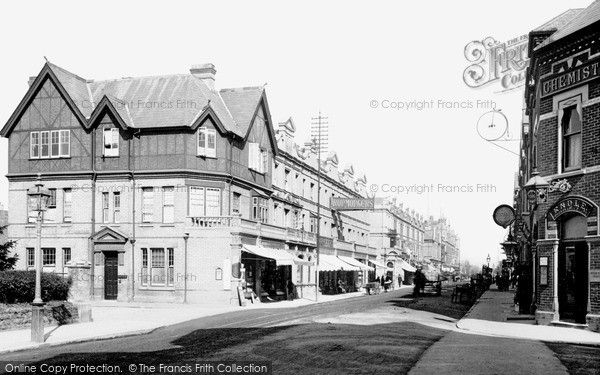 Boscombe, Christchurch Road 1892, from Francis Frith