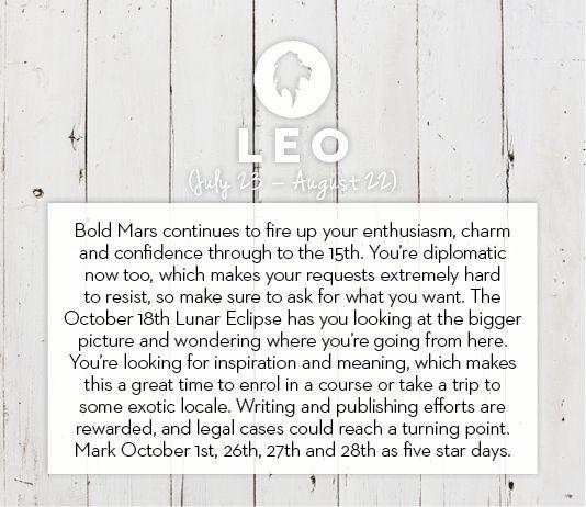 #Leo October #horoscope 2013