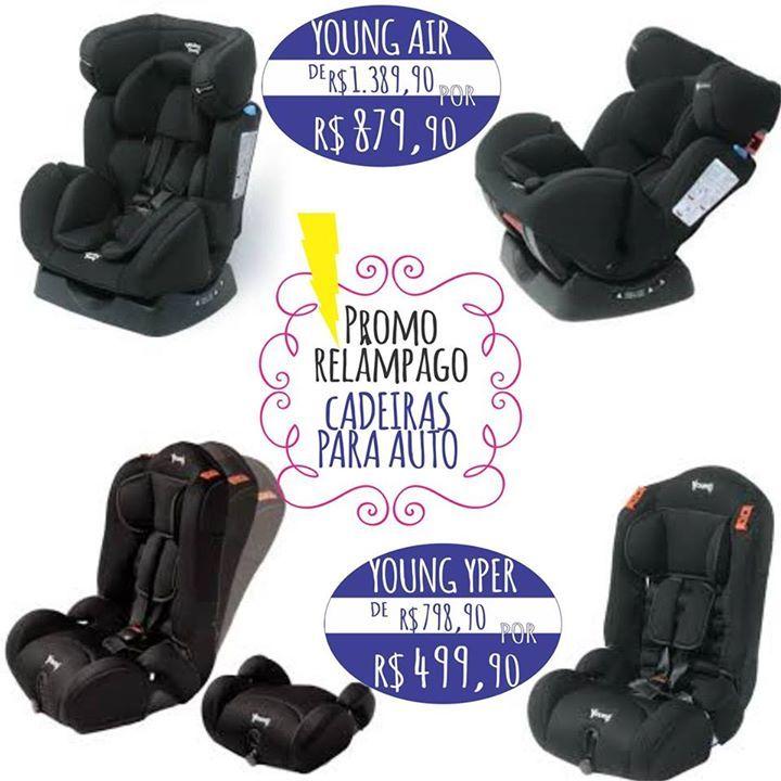 A SUPER PROMOÇÃO VOLTOU!!! ⚡⚡⚡ Cadeiras para automóvel YOUNG AIR de R$ 1.389,90 por R$ 879,90 e YOUNG YPER de R$ 798,90 por R$ 499,90!!! É somente por três dias!! Aproveite mais esta condição imbatível da Baby's MegaStore.  # A cadeira AIR é uma das cadeiras mais seguras no mercado brasileiro, indicada de Zero a 25kg! Além de atender às exigências do INMETRO ela é uma das únicas a possuir as tecnologias APS (Air Protect System) e ACT (Air Cocoon Tecnology). Com tecido soft touch, apoio de…