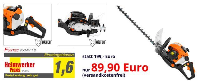 FuxTec Benzin Motorheckenschere für 89,90 Euro statt 199 Euro!