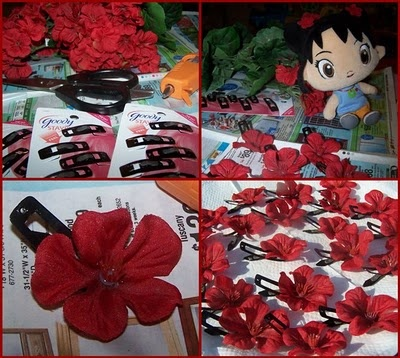 Kai Lan ideas--Yes! Flower hairpiece  party favors