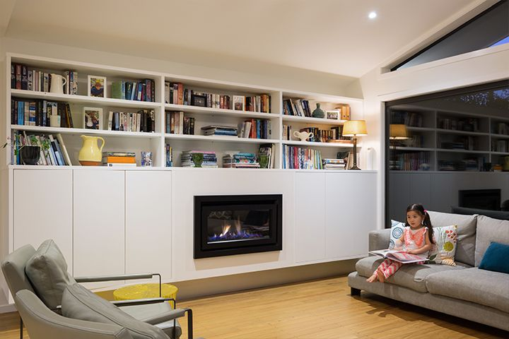 Cosy inside with an Escea DL850 gas fireplace