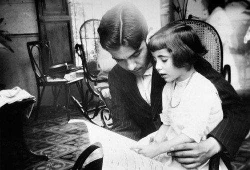 Federico Garcia Lorca with his sister, Isabel