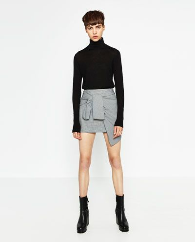 MINI SKIRT WITH A KNOT IN FRONT-TRENDING PICKS-WOMAN | ZARA United States